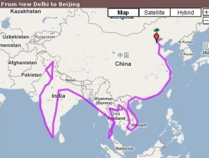 From New Delhi to Beijing